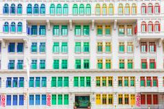 Colorful building of Ministry of culture, community and youth in Singapore - stock photo