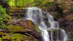 4k,Waterfall in the mountains near the village Pylypets, Carpathians Stock Footage