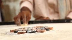 Indian traditional carrom game Stock Footage