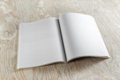 Blank magazine Stock Photos