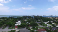 Flying in North Palm Beach Aerial Video 4k Stock Footage