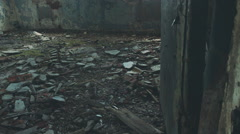 Destroyed building inside Stock Footage