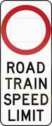 Road Train Speed Limit In Australia Stock Illustration