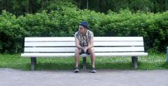 Man talking on the phone. - stock footage