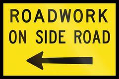 Roadwork On Side Road In Australia - stock illustration