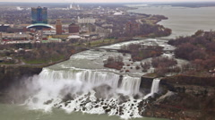 American Falls and Bridal Veil Falls at Niagara Falls with New York in the Stock Footage