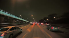 Cars traveling on freeway Stock Footage