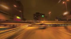 Car merging onto freeway - stock footage