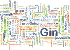Gin background concept Stock Illustration