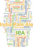 Stock Illustration of Indian pale ale IPA background concept