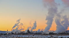 Wyoming Smoke from Factory Stock Footage