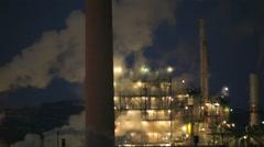Factory Smoke Stacks Stock Footage