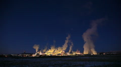 Smoke stacks in Wyoming Stock Footage