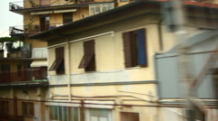 Passing through Firenze on a train Stock Footage