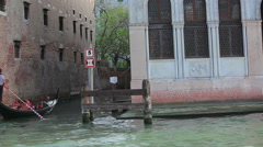Shot from canal of venetian public school. Stock Footage