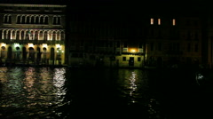 Stationary shot of boats on Grand Canal Stock Footage