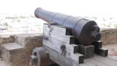 São Jorge Castle's cannon Stock Footage
