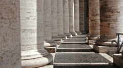Stock Video Footage of Columns of colonnade of St Peter
