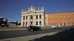 Time lapse of Archbasilica of St John Lateran Stock Footage