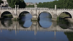 Ponte Sant'Angelo from the street Stock Footage