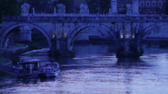 Panning shot of bridge on grand canal Stock Footage