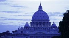 Close up shot of San Pietro dome Stock Footage
