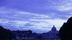 Sky and clouds in front of San Pietro in Vatican City Stock Footage