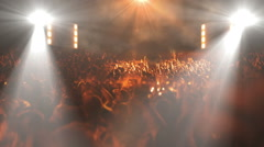Crowded music concert stage (pan camera) +10 Stock Footage