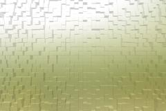 Frosted glass yellow color, 3d block style - stock illustration