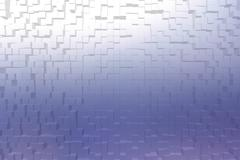 Frosted glass blue color, 3d block style - stock illustration