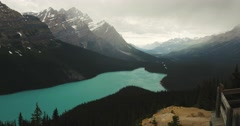4K - Peyto lake in British Columbia Canada Stock Footage