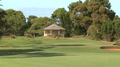 Naturall Blended Beauty on the Golf Course - Classic Links Golf Course Stock Footage