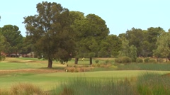 Natural Scenic Beauty - Classic Links Golf Course Stock Footage