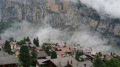 Swiss mountain village Stock Footage