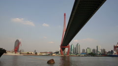 Under a bridge in Shanghai Stock Footage