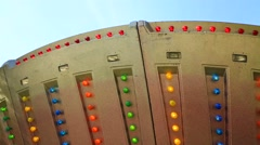 Running lights, fair park attraction Stock Footage