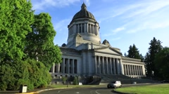 Olympia Capitol building, summer Stock Footage