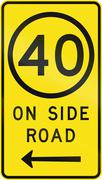 Speed Limit On Side Road - stock illustration