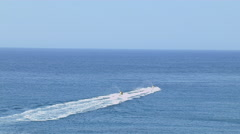 Jet skiing at Sea - stock footage