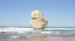 Formation from the Twelve Apostles - stock footage