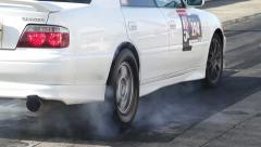 Warming rubber car Stock Footage
