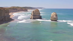 View of the Twelve Apostles - stock footage