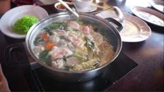 Asian style hotpot Stock Footage