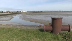 Langstone Harbour at Low Tide in Hampshire - stock footage
