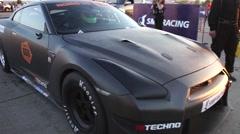 Nissan GTR Drag racing Stock Footage