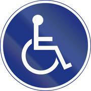 Stock Illustration of Disabled Parking In Ireland