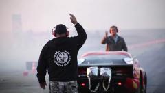 Speedway smoke Stock Footage
