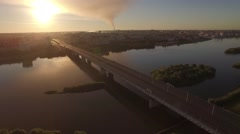 Aerial Morning Omsk #2 Stock Footage