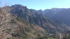 4k Mountains and valleys of Encumeada in Madeira Stock Footage