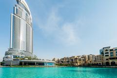 Dubai - JANUARY 10, 2015: The Address Hotel on January 10 in UAE, Dubai. Address - stock photo